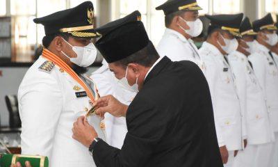 Gubsu Lantik M Syahrial-Waris Tholib Jadi Wali Kota dan Wakil Wali Kota Tanjungbalai Periode 2021-2024