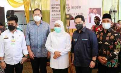 Tiga Menteri Hadir Di Acara Panen Raya Perdana Padi di Gresik