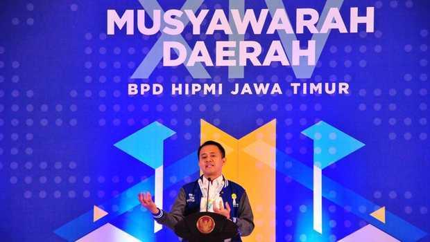 Rois Sunandar Maming Terpilih Ketua HIPMI Jatim Periode 2021-2024