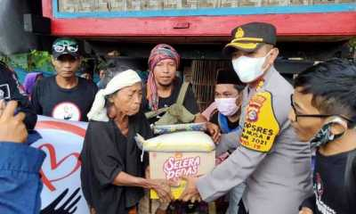 Kapolres Lombok Tengah Bantu Warga Kurang Mampu