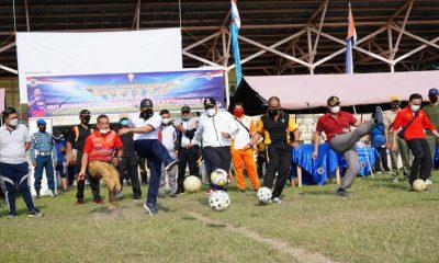 Peringati HUT Lanal TBA ke 16 dan HUT POMAL ke 75 Wali Kota Tanjungbalai Buka Turnamen Sepak Bola Danlanal Cup Tahun 2021