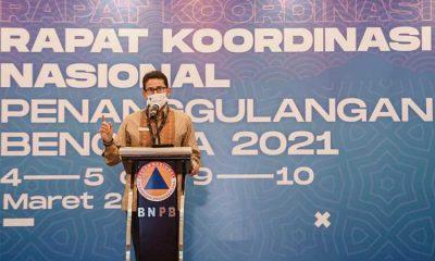 Menparekraf Ingin Manfaatkan Data BNPB untuk Manajemen Krisis Pariwisata