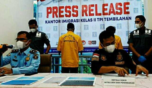 Ingin Cari Pekerjaan Ke Riau, 2 WNA Timor Leste Diamankan karena Masuk Indonesia secara Ilegal
