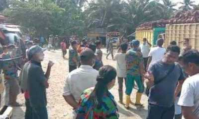 Memalukan, Akibat Perebutan Lahan Bongkar Muat Sawit, Sesama Massa Buruh SPSI Bentrok Dua Orang Korban Luka luka