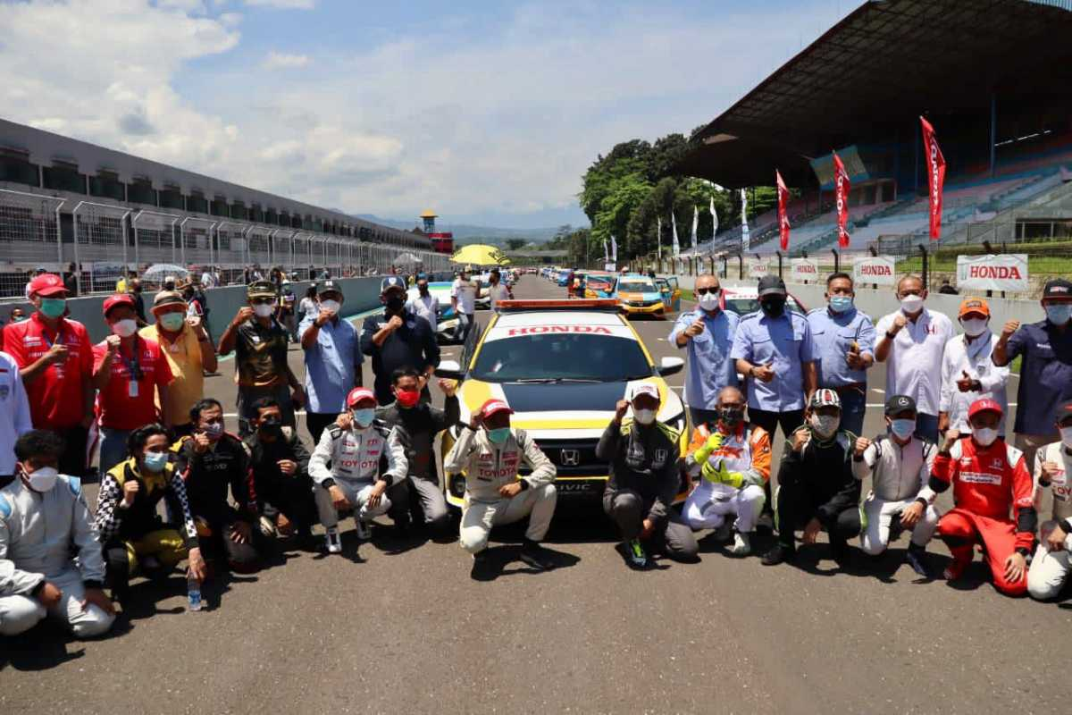 Bamsoet Buka Putaran Balap Mobil Pertama Indonesian Sentul Series of Motorsport 2021