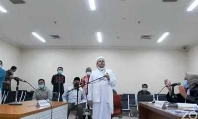 Habib Rizieq Didakwa Sebar Berita Bohong Soal Status Positif Covid-19