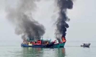 KKP Tenggelamkan 6 Kapal Asing Ilegal Berbendera Malaysia di Belawan