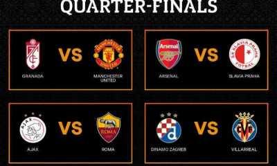 Kocokan Liga Europa, Arsenal Kontra Slavia Praha dan Roma Adu Sengit dengan Ajax