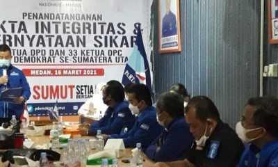 DPD Demokrat Sumut Tandatangani Pakta Integritas Setia ke AHY dan SBY