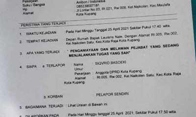 Oknum Anggota DPRD Kota Kupang Dipolisikan Lurah Naikoten 1