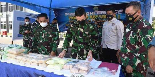 Akan Diedarkan di Tanjung Balai, Sebuah Kapal Bawa 100 Kg Sabu Digagalkan TNI AL