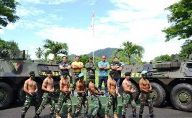 Kompi Kavaleri 10/MSC Kodam XIII Merdeka Gelar Porton Tingkatkan ketangkasan prajurit