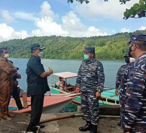 Wakasal Tinjau Lokasi Pembangunan Pangkalan TNI AL di Kepulauan Sangihe