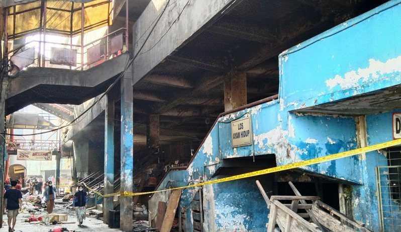 Dugaan Sementara Penyebab Kebakaran Blok F Pasar Minggu Akibat Puntung Rokok