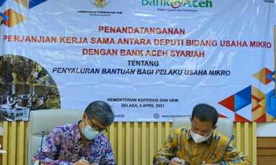 Kemenkop dan Bank Aceh Syariah Tandatangani MoU Soal Penyaluran BPUM