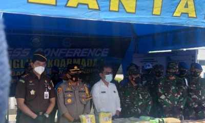 TNI AL Serahkan Barbuk 100 Kg Sabu ke BNN Sumut