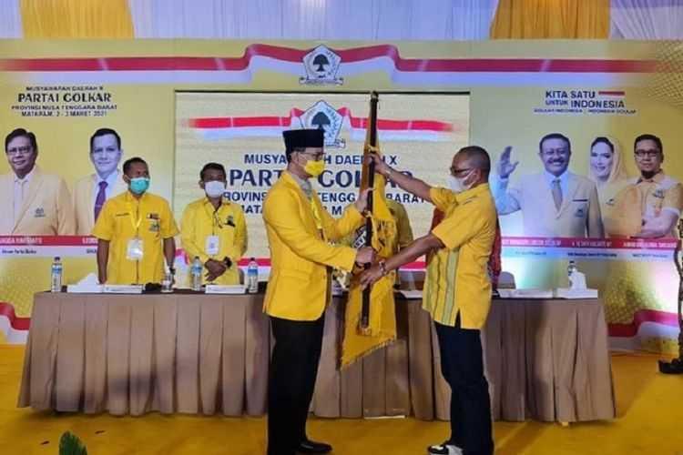 Walikota Mataram Resmi Terima SK Ketua DPD Golkar NTB