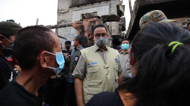Gubernur Anies Jamin Kebutuhan Korban Kebakaran Tamansari Dipenuhi Pemprov DKI