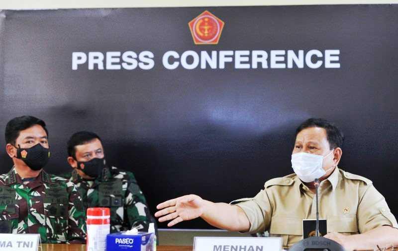 Menhan Prabowo : Negara Utang Budi Kepada 53 Prajurit KRI Nanggala-402 yang Gugur
