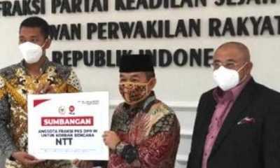 Fraksi PKS Serahkan Bantuan Simbolis ke Masyarakat Korban Bencana di NTT dan NTB