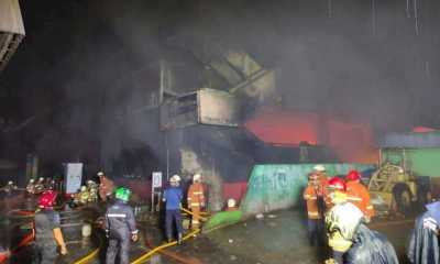 Kebakaran Pasar Inpres Pasming Padam, 392 Kios Hangus Dilahap Si Jago Merah