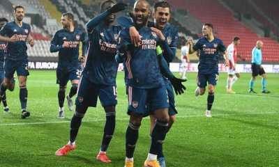 Brace Lacazette Bawa Arsenal Kunci Tiket Semifinal Piala Eropa