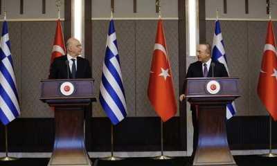 Saat Jumpa Pers, Menlu Turki dan Yunani Bertengkar