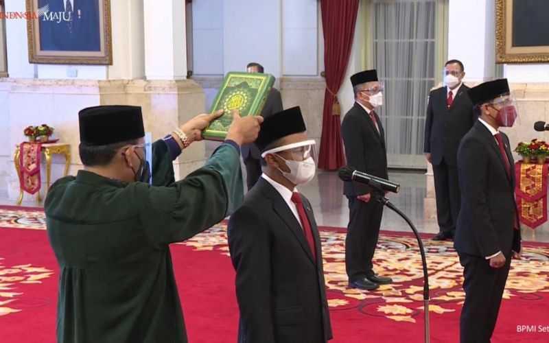 Sah, Jokowi Lantik Bahlil Lahadalia Jadi Menteri Investasi dan Nadiem Makarim Jadi Mendikbud-Ristek