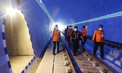 Guna Menjamin Keselamatan, Manajemen KAI Purwokerto Cek kondisi Terowongan Ijo
