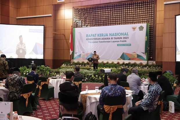 Tutup Rakernas, Wamenag Zainut Tauhid Sa'adi: Perkuat Moderasi dan Percepat Transformasi Layanan Publik