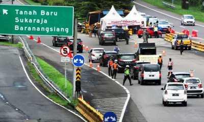 Polresta Bogor Kota Tutup Sementara Gerbang Pintu Tol Baranangsiang