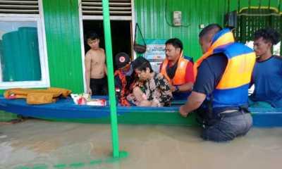 Basarnas Telah Berhasil Mengevakuasi 5.308 Jiwa korban Banjir Satui Kalsel