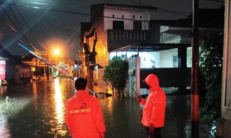 Akibat Hujan Lebat, Tujuh Titik di Bekasi Terendam Banjir