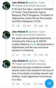 Jokowi Merespons Kritikan Terkait Palestina Lewat Cuitan Berbahasa Inggris