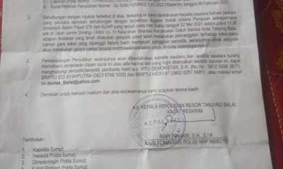 Belum Ada Tindak Lanjut, Laporannya sudah lebih satu tahun, Jaringan Sihotang Sesalkan Kinerja Reskrim Polres Tanjungbalai