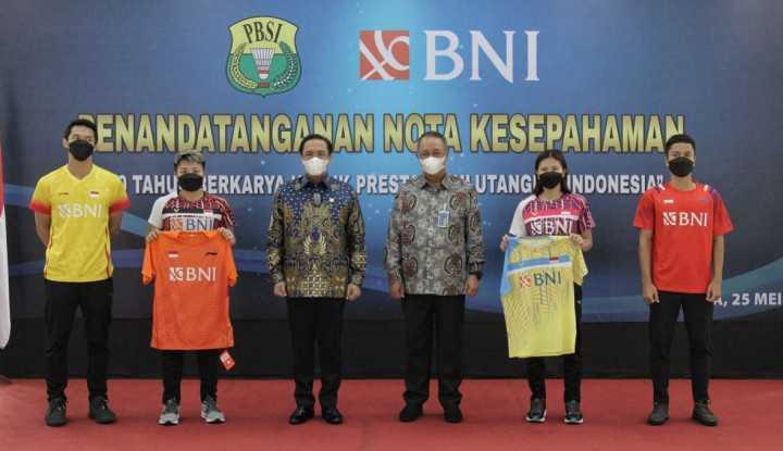 BNI Resmi Dukung Pembinaan Bulu Tangkis Nasional