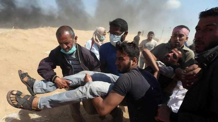 Gempuran Israel Tewaskan 84 Warga Palestina