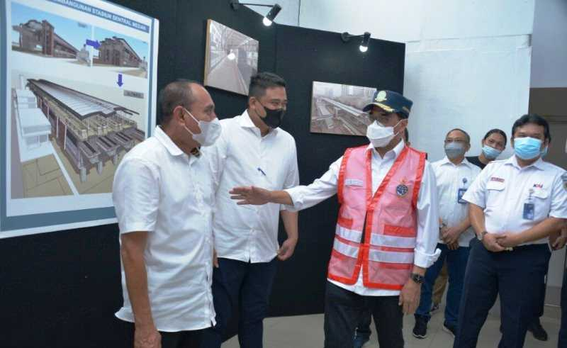 Menhub, Gubernur dan Walikota Medan Bahas Pengembangan Angkutan Massal di Sumut