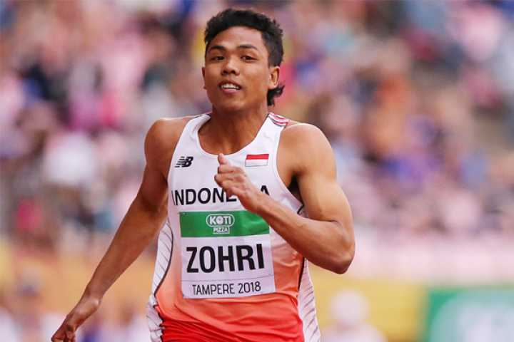 Tak Hiraukan Janji Bonus, Zohri Tetap Fokus Persiapan Laga di Olimpiade