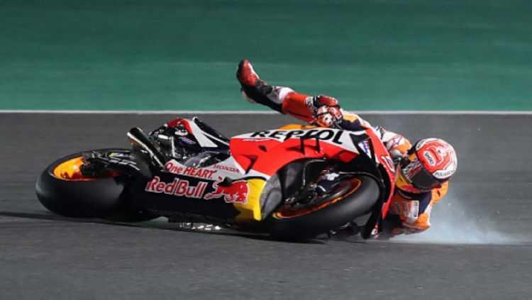 Salah Pilih Ban, Jadi Penyebab Jatuhnya Marquez di Tikungan 7 Jerez