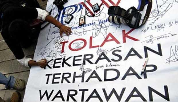 AJI: 90 Jurnalis Alami Kekerasan Dalam Setahun, Pelaku Terbanyak Polisi