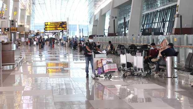 Ada Larangan Mudik, Jumlah Penumpang Bandara Soetta Turun Drastis