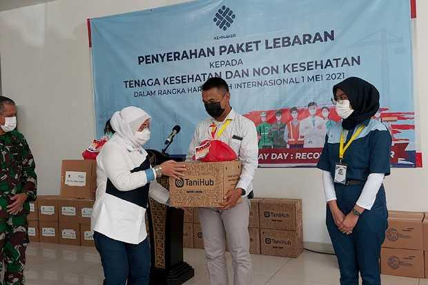 Beri Paket Lebaran di RSD Wisma Atlet, Menaker Ida Fauziyah Bicara Soal Jihad