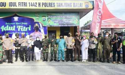 Plt Wali Kota Tanjungbalai Bersama Forkopimda Tinjau Tiga Pos Pengamanan Idul Fitri