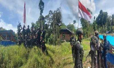 Pasukan TNI/Polri Berhasil Kuasa Dua Markas OPM Papua