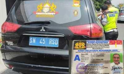 """Polisi Bakal Periksa Kejiwaan Pemilik Kendaraan Berplat """"Negara Kekaisaran Sunda Nusantara"""""""