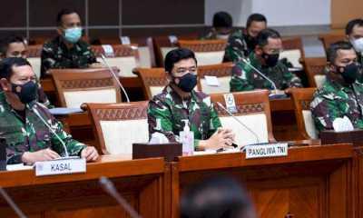 Sambangi DPR, Panglima TNI dan KSAL Bahas Moderanisasi Alutsista