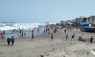 Obyek Wisata Pantai Selatan Cianjur Ditutup Sementara