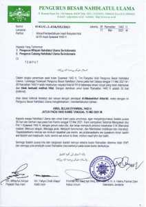 Tok! PBNU Tetapkan 1 Syawal 1442 Hijriah Pada Kamis 13 Mei Mendatang