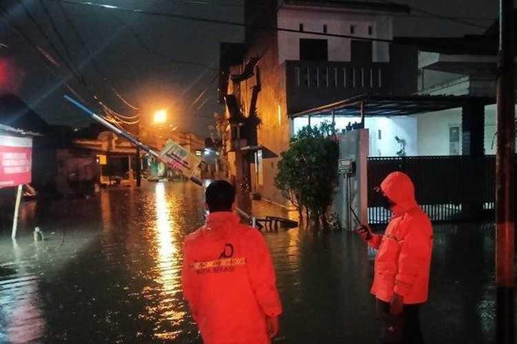 Diguyur Hujan Lebat, Dua perumahan di Bekasi Terendam Banjir